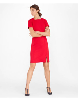 Square Neck Ponte Sheath Dress by Brooks Brothers