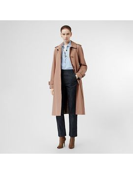 Side Slit Tropical Gabardine Trench Coat by Burberry
