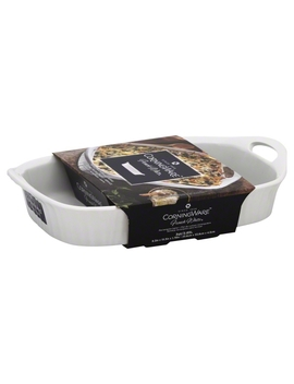Corningware French White 3 Quart Oblong Casserole With Sleeve Dish by Corning Ware