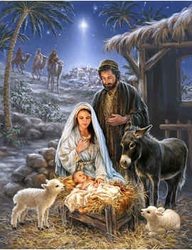 Savior Is Born 1000 Piece Jigsaw Puzzle by Springbok Puzzles