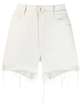 Frayed Hem Denim Shorts by Stella Mc Cartney