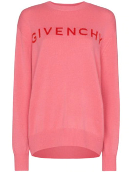 Intarsia Knit Logo Cashmere Jumper by Givenchy