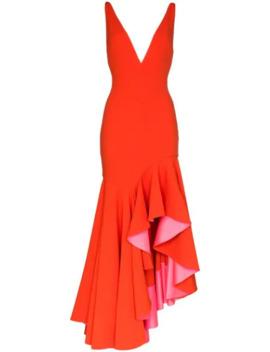 Edana V Neck Dress by Solace London