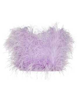 Ostrich Feather Bandeau Top by Attico
