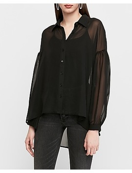 Sheer Chiffon Tunic by Express