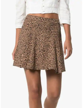Flounce Leopard Print Mini Skirt by Reformation
