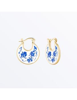 Enamel Earrings     Hana Marble Blue              Regular Price        $75 by Ana Luisa