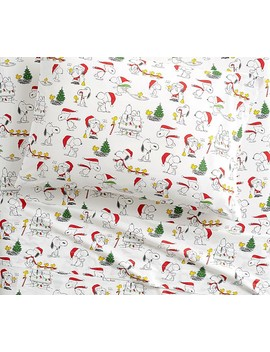 Organic Peanuts® Holiday Sheet Set by Pottery Barn Kids