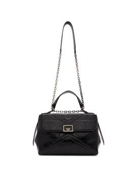 Black Medium Crinkled Id Bag by Givenchy