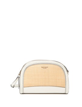 Leather Straw Dome Crossbody Bag by Kate Spade New York