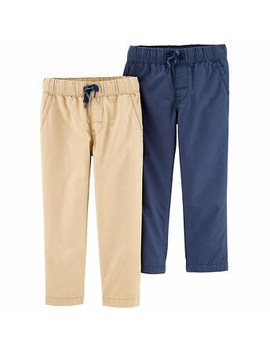 Carter's Mix And Match Pants, Tan/Blue 2 Pack by Carter's