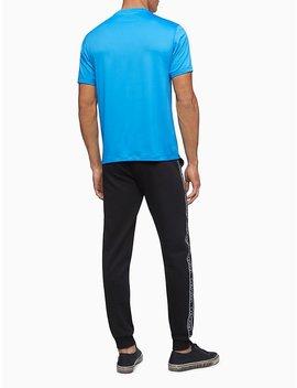 Linear Wave Logo Crewneck T Shirt by Calvin Klein