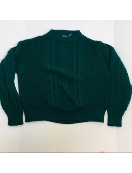 Vtg Wentworth Chunky Dark Green Cable Knit Sweater by Wentworth