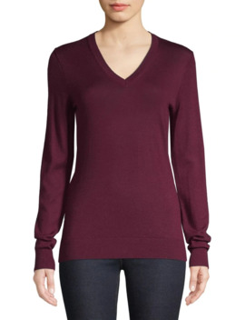 Merino Wool Pullover Sweater by Lord & Taylor