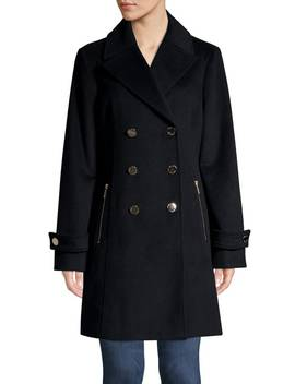 Double Breasted Wool Blend Coat by Michael Michael Kors