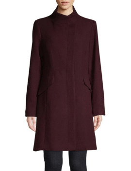 Wool Blend Long Coat by Vince Camuto