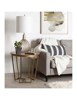 Kate And Laurel Solvay Wood And Metal Side Table by Kate And Laurel