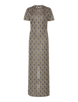 Printed Lurex Maxi Dress by Paco Rabanne