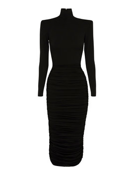 Fallon Ruched Jersey Midi Dress by Alex Perry