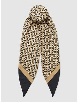 Tb Print Silk Twill Hair Scarf by ‎Burberry‎