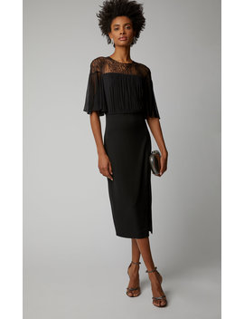 Cate Lace And Jersey Midi Dress by Cushnie