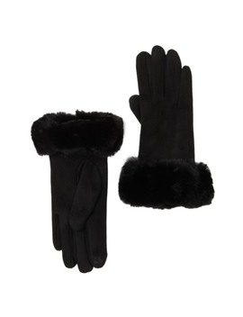Faux Fur Trimmed Glove by 14th & Union