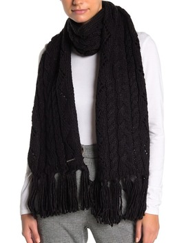 Pointelle Cable Knit Scarf by Michael Michael Kors