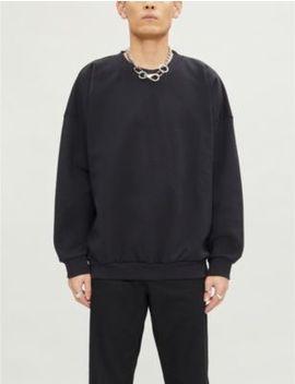 Logo Print Crewneck Cotton Jersey Sweatshirt by Fear Of God