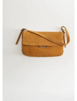 Süet Baguette çanta by Mango