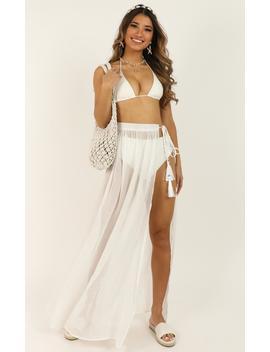 California Dreaming Skirt In White by Showpo Fashion