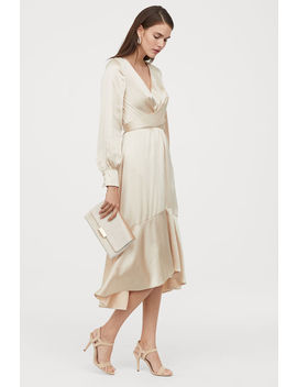 Bağcık Detaylı Saten Elbise by H&M