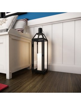 Large Black Iron Lantern by Laurel Foundry Modern Farmhouse