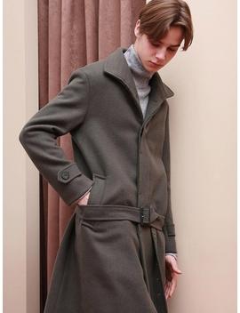 [Unisex] Watson Robe Wool Single Coat Khaki by Annspaper