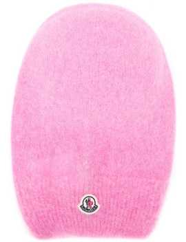 Logo Plaque Beanie Hat by Moncler
