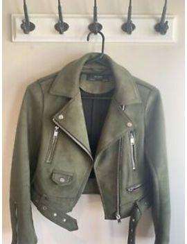 Zara Womens Suede Biker Jacket Size Xs by Zara