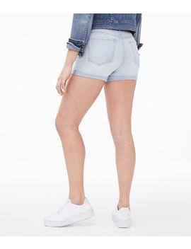 Seriously Stretchy High Rise Denim Midi Shorts by Aeropostale