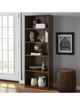 "Mainstays 71"" 5 Shelf Bookcase, Canyon Walnut by Mainstays"
