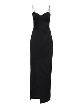 Cutout Satin Midi Dress by Rasario