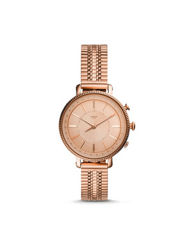 Hybrid Smartwatch   Cameron Rose Gold Tone Stainless Steel by Fossil