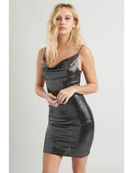 Sequin Bungee Slip Dress by Garage