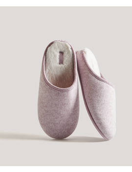 Flecked Fabric Slippers by Oysho