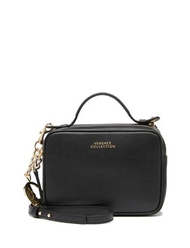 Saffiano Leather Crossbody Bag by Versace