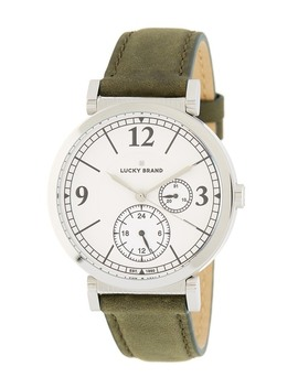 Women's Carmel Olive Leather Strap Watch, 38mm by Lucky Brand