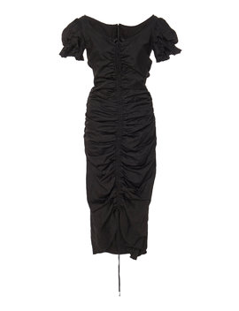Petruska Asymmetric Ruched Taffeta Dress by Brock Collection