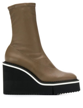 Bliss Wedge Boots by Clergerie