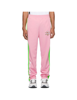 Pink Icecream Edition Skull Track Pants by Palm Angels
