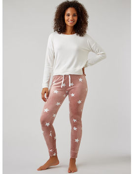 Star Velour Leggings   Dusky Pink by Bouxavenue