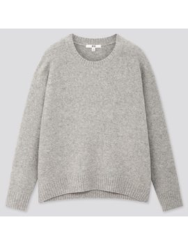 Women Light SoufflÉ Yarn Relaxed Fit Crew Neck Jumper by Uniqlo