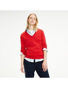 Heritage V Neck Sweater by Tommy Hilfiger