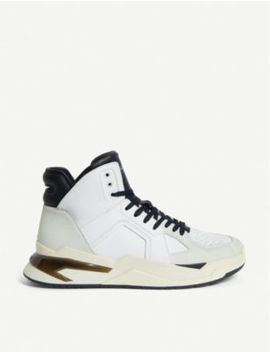 B Ball Leather Trainers by Balmain